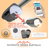 ATA SYNCRO ATS-3 Sectional / Panel Garage Door opener w/ Steel belt rail. Replaces GDO9v2