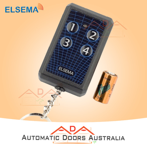 Elsema Key304 Garage Door Remote 4 Button Transmitter, 10 Dipswitches FMT-304 x1